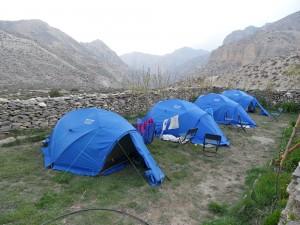 Unsere Zelte in Syangmochen