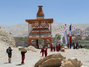 Eintritts-Chörten in Tsarang
