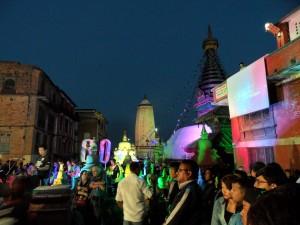 Earthhour am Swayambunath Tempel, Kathmandu