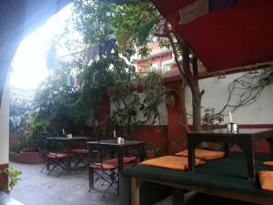 Innenhof Gaia Restaurant