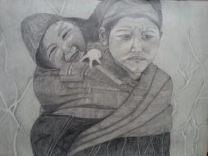 Nepalesische Kinder aus dem Manaslu Gebiet